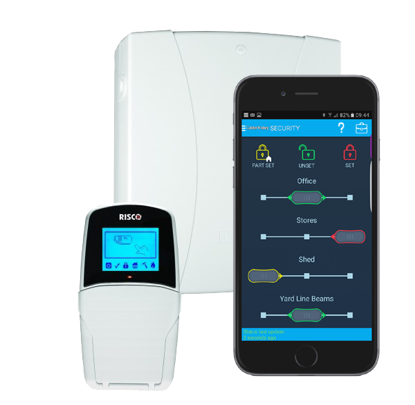 app controlled house alarm
